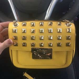 Michael Kors Studded Pyramid Crossbody Handbag